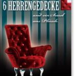 6 Herrengedecke und ein Sessel aus Plüsch