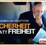 CDU: Sicherheit statt Freiheit