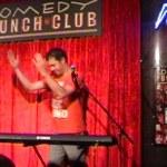 Auf der Bühne in meiner Unterhose