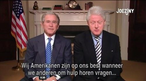 George Bush mit Bill Clinton