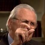 Rumsfeld streitet sich mit Interviewer