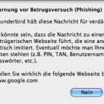 Thunderbird hält Google für verdächtig (phishing)