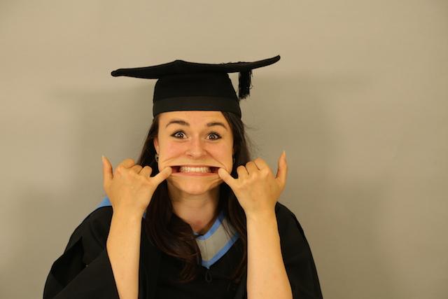 university girl grimacing