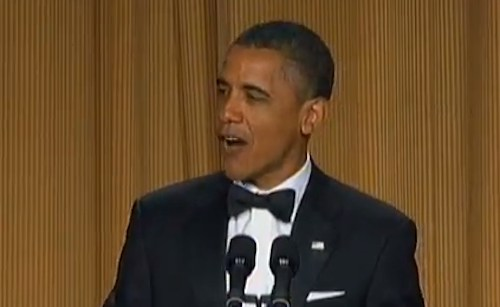 Comedian Barrack Obama at the White House Correspondent's Dinner