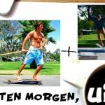 Skateboardfahrer bei der Brigitte-Diät