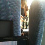 Besoffene Frauen im Zug