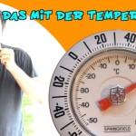 Was ist die gefühlte Temperatur eines angepusteten Thermometers?