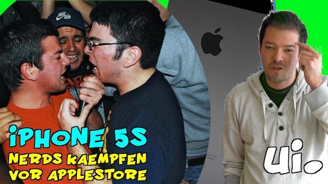 iPhone 5S Nerds kämpfen vor dem Applestore