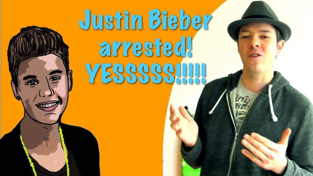 justin bieber arrested makes german happy