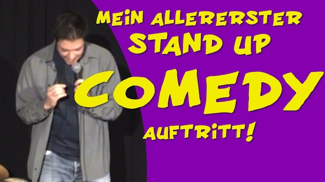 stand up comedy erster auftritt
