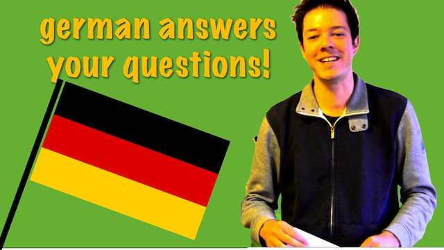 A german answers questions