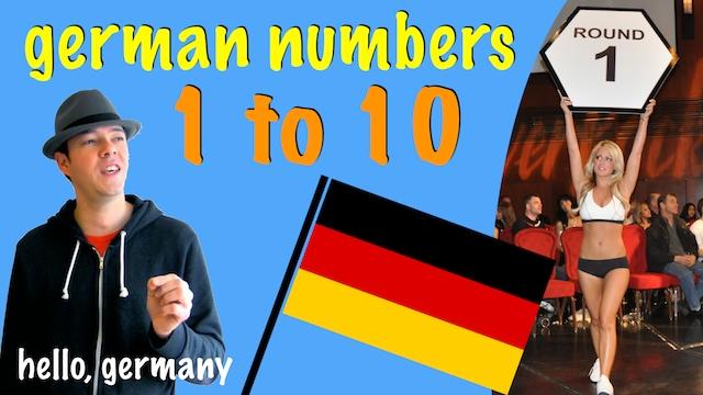 german numbers one to ten