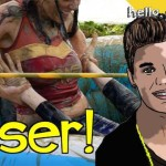 Justin Bieber wrestles woman and loses big time!