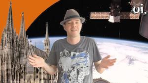 Der Kölner Dom fliegt in den Weltraum