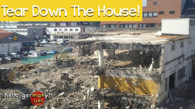 tearing down the house