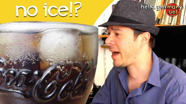 why germans no put ice in their drinks