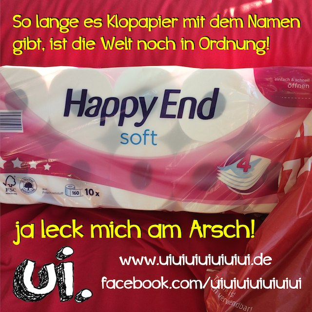happy end klopapier