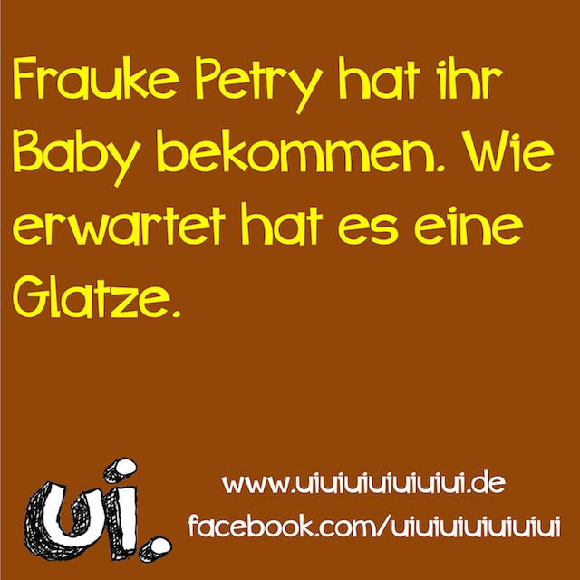 frauke petry baby hat eine glatze